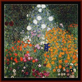flower garden, 1907 - klimt  cross stitch pattern by cross stitch collectibles