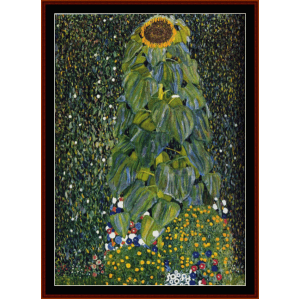 the sunflower - klimt  cross stitch pattern by cross stitch collectibles