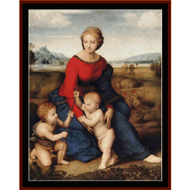 madonna in the meadow - raphael  cross stitch pattern by cross stitch collectibles