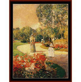 park monceau - childe-hassam  cross stitch pattern by cross stitch collectibles