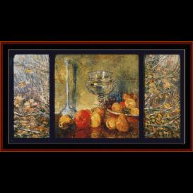 still life, fruits - childe-hassam  cross stitch pattern by cross stitch collectibles