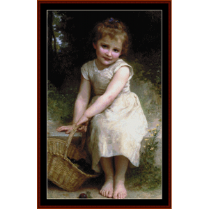 Plums - Bouguereau cross stitch pattern by Cross Stitch Collectibles | Crafting | Cross-Stitch | Wall Hangings