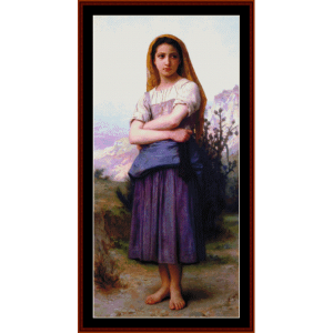 young shepherdess - bouguereau cross stitch pattern by cross stitch collectibles