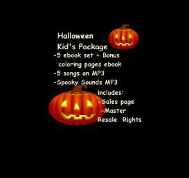 Halloween Kid's Package ebooks audio MP3 graphics Resell | eBooks | Children's eBooks