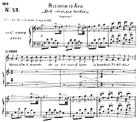 deh vieni, non tardar,  (aria for soprano). with recitative