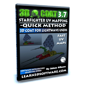 3d coat -uv mapping a starfighter -quick method