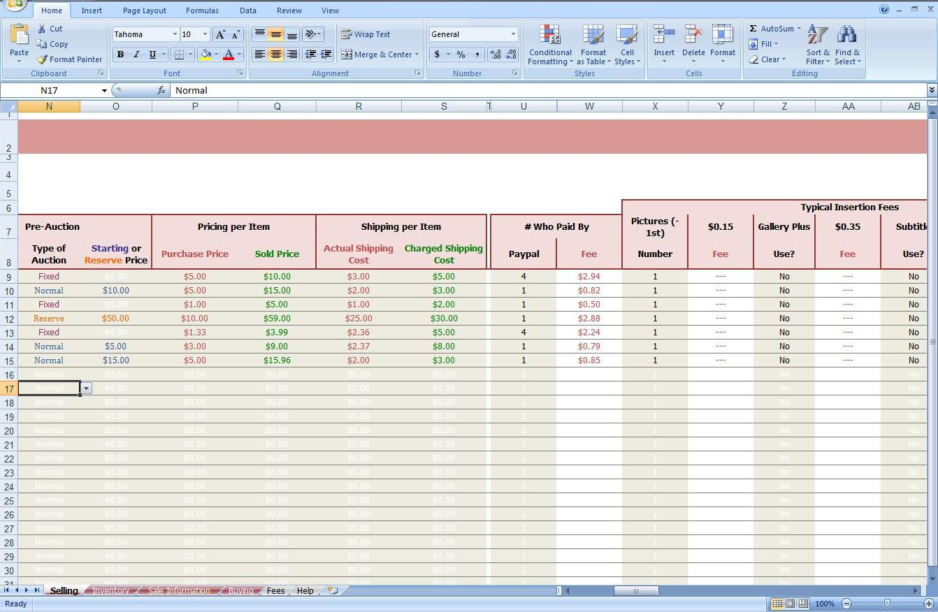 First Additional product image for - eBay Store Spreadsheet - Track Profit & Inventory