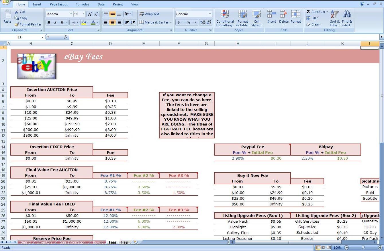 Profit Calculator Spreadsheet