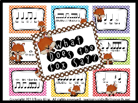 what does the fox say music bulletin board