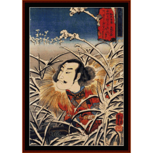 Lingering Snow at Ishiyama - Asian art  cross stitch pattern by Cross Stitch Collectibles | Crafting | Cross-Stitch | Wall Hangings