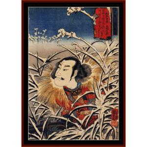 Lingering Snow at Ishiyama - Asian art  cross stitch pattern by Cross Stitch Collectibles | Crafting | Cross-Stitch | Wall Hangings
