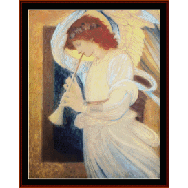 angel playing flageolet - de blass  cross stitch pattern by cross stitch collectibles