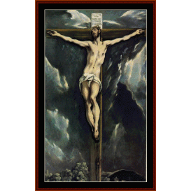christ on a cross - el greco  cross stitch pattern by cross stitch collectibles