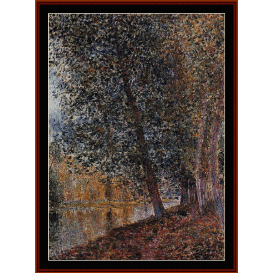 banks of the loing, autumn - sisley  cross stitch pattern by cross stitch collectibles