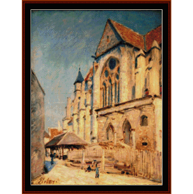 eglise de moret - sisley  cross stitch pattern by cross stitch collectibles