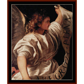 angel, 1522 - titian  cross stitch pattern by cross stitch collectibles