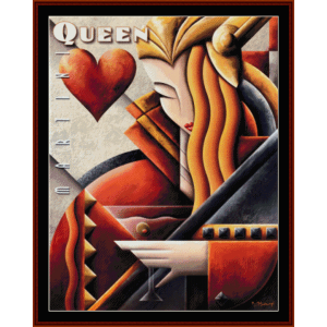 Martini Queen - Vintage Poster  cross stitch pattern by Cross Stitch Collectibles | Crafting | Cross-Stitch | Wall Hangings