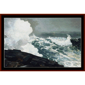 northeaster - winslow homer  cross stitch pattern by cross stitch collectibles