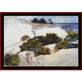 maine cliffs - winslow homer  cross stitch pattern by cross stitch collectibles