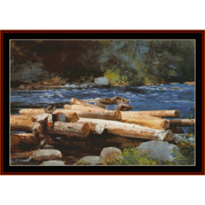 hudson river - winslow homer  cross stitch pattern by cross stitch collectibles