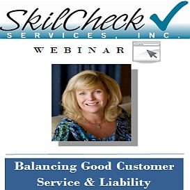 balancing good customer service - skilcheck services