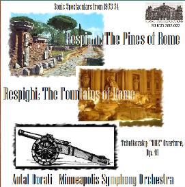 respighi: pines & fountains of rome; tchaikovsky: 1812 ov - -mso/dorati