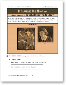 it happened one night, hitchhiking made easy, short-sequence english (esl) lesson