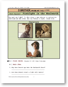 o brother, where art thou?, fistfight in the woolworth, short-sequence english (esl) lesson