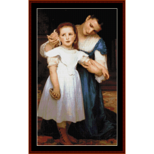 the seashell - bouguereau cross stitch pattern by cross stitch collectibles