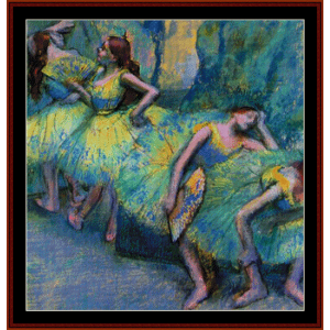 ballet dancers in the wings- degas cross stitch pattern by cross stitch collectibles