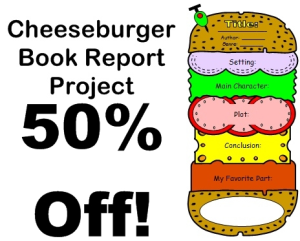 50% off cheeseburger book report