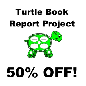 50% off turtle book report projects