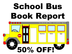 50% off school bus book report project