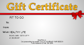 Personal Training Session Gift Certificate | Documents and Forms | Business