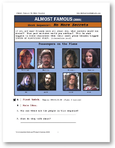 almost famous, no more secrets, short-sequence english (esl) lesson