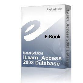 ilearn_access 2003 database building