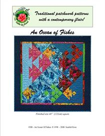 An Ocean of Fishes pieced pattern | Crafting | Sewing | Quilting