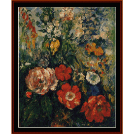 bouquet of flowers - cezanne  cross stitch pattern by cross stitch collectibles