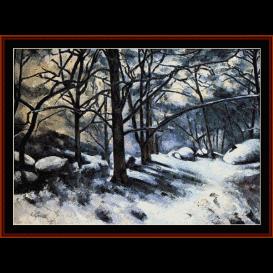 melting snow, fountainbleau - cezanne  cross stitch pattern by cross stitch collectibles