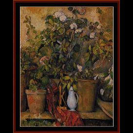 potted plants - cezanne  cross stitch pattern by cross stitch collectibles