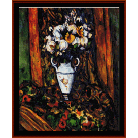 vase with flowers - cezanne  cross stitch pattern by cross stitch collectibles