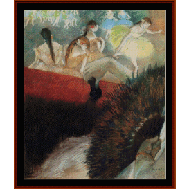 at the ballet - degas  cross stitch pattern by cross stitch collectibles