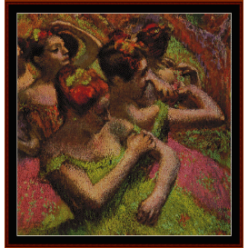 ballerinas adjusting dresses - degas  cross stitch pattern by cross stitch collectibles