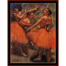orange ballet skirts - degas  cross stitch pattern by cross stitch collectibles