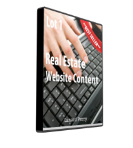 real estate website content lot #1