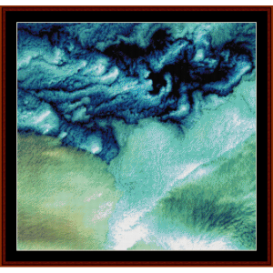 aleutian clouds - alaska - earth as art cross stitch pattern by cross stitch collectibles