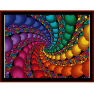 fractal 140 cross stitch pattern by cross stitch collectibles