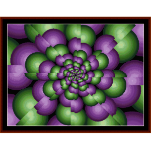 fractal 63 cross stitch pattern by cross stitch collectibles