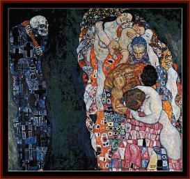life and death - klimt cross stitch pattern by cross stitch collectibles