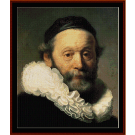 johannes wtemboagert - rembrandt cross stitch pattern by cross stitch collectibles